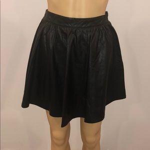 Freebird faux leather like a-line skirt  medium